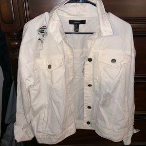 White forever 21 jean jacket